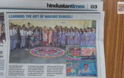 LEARNING THE ART OF MAKING RANGOLI